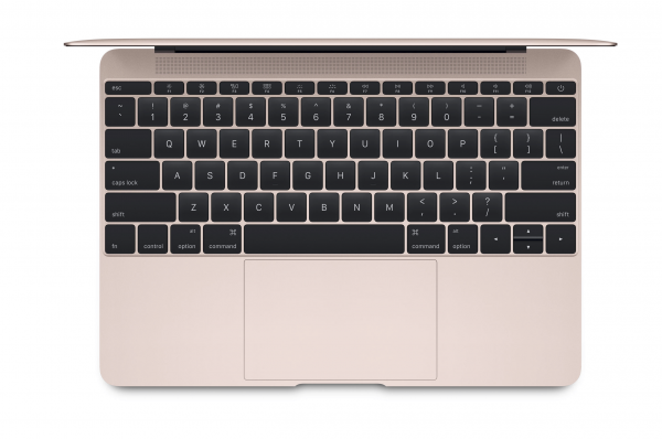 MacBook in rosegold